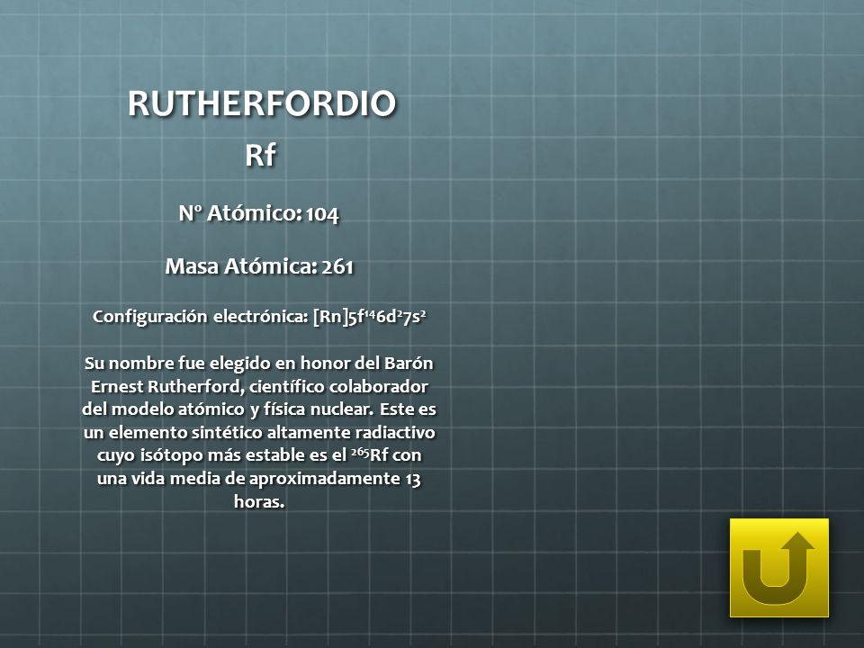 Configuración electrónica: [Rn]5f146d27s2